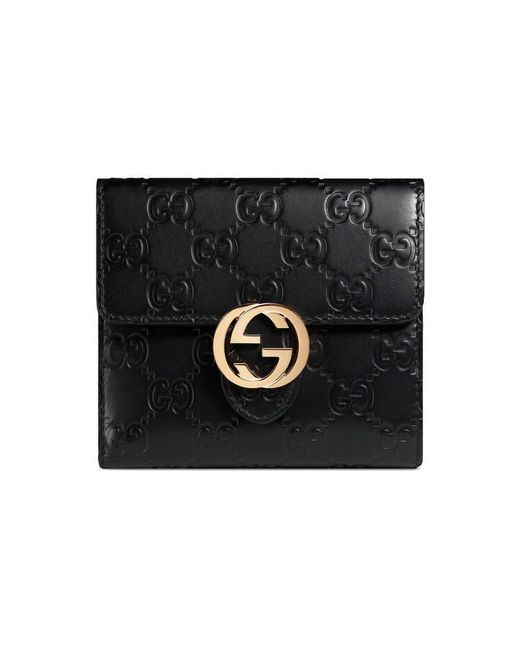 Gucci | Black Icon Signature Wallet | Lyst