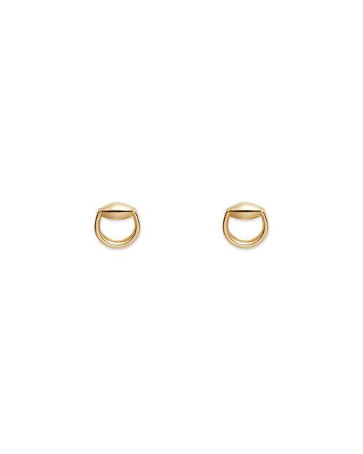 Gucci - Metallic Horsebit Stud Earrings In Gold - Lyst