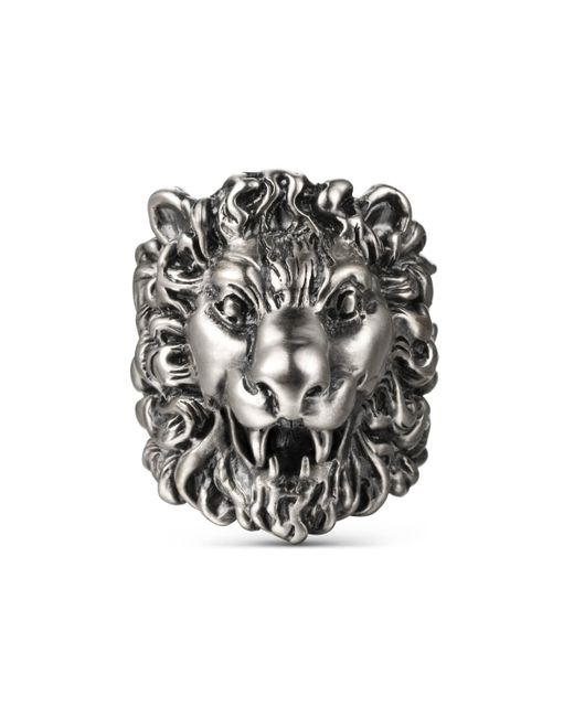 Gucci - Metallic Lion Head Ring - Lyst