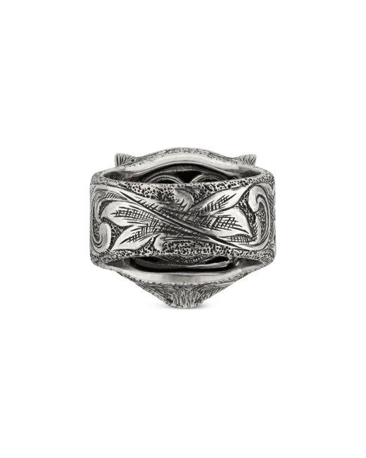 4182912f5 ... Gucci - Purple Garden Feline Head Ring for Men - Lyst ...
