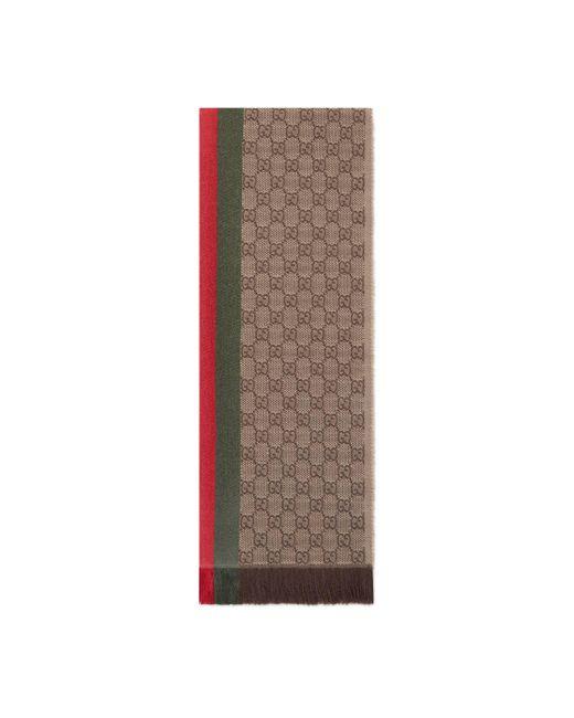 Gucci - Natural Écharpe tricotée jacquard motif GG for Men - Lyst