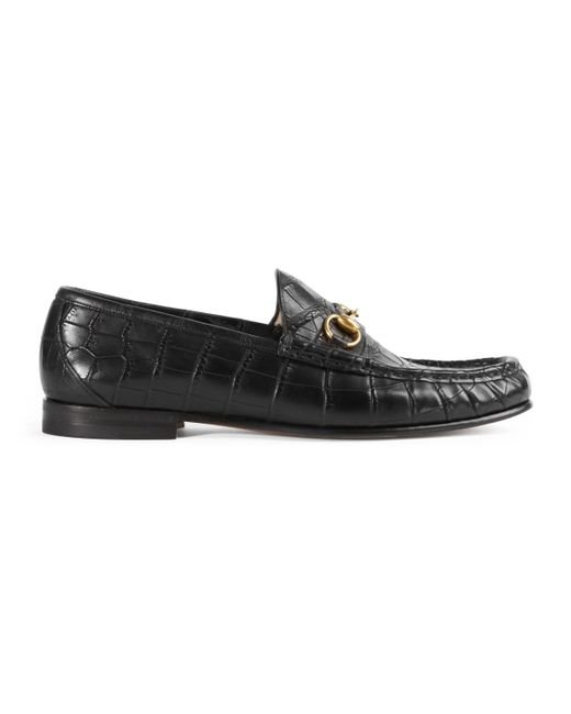 Gucci - Black Mokassin 1953 mit Horsebit aus Krokodilleder for Men - Lyst