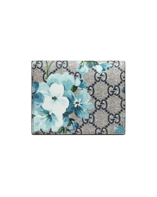 Gucci | Blue Gg Blooms Card Case | Lyst