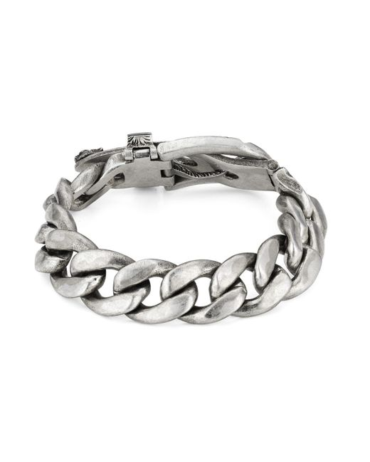 7dcbf88b1 ... Gucci - Metallic Garden Bracelet In Silver for Men - Lyst ...