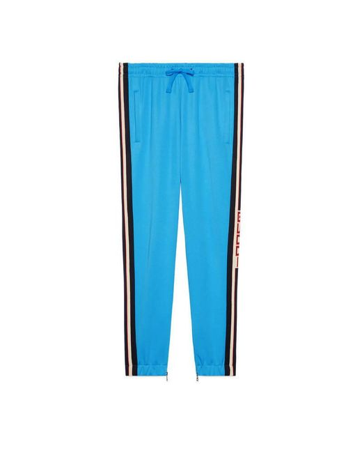 Gucci - Blue Technical Jersey Jogging Pant for Men - Lyst