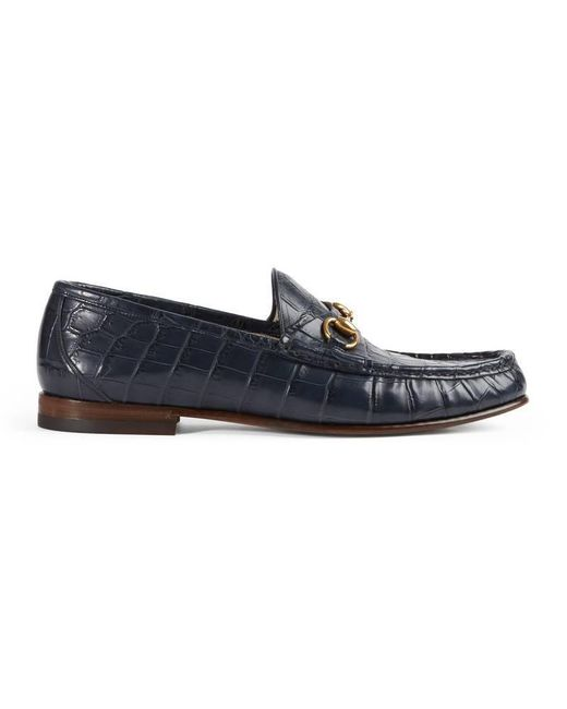 Gucci - Blue 1953 Horsebit Crocodile Loafer for Men - Lyst