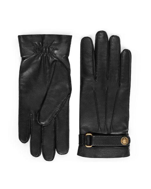 e10ec86ae1c24 Gucci Handschuhe aus Leder in Schwarz für Herren - Lyst