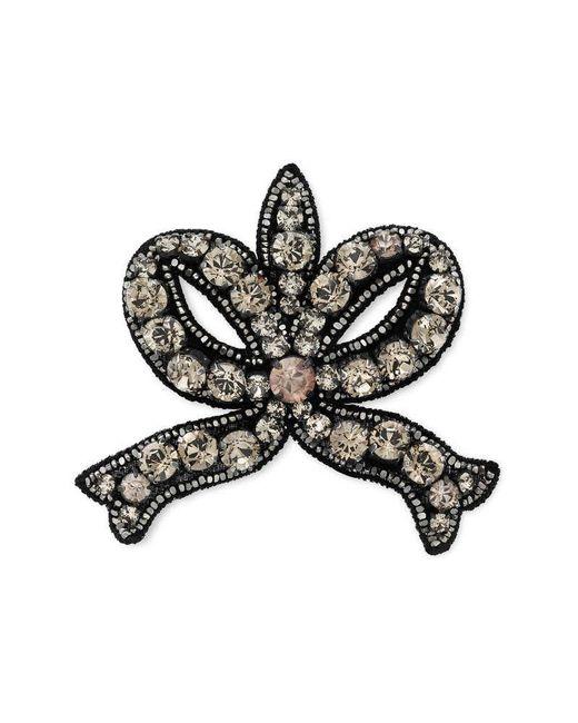Gucci | Black Crystal Bow Brooch | Lyst