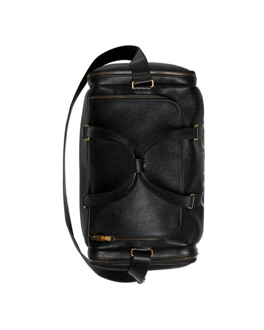 17c4e5600341 ... Gucci - Black Print Leather Carry-on Duffle for Men - Lyst ...