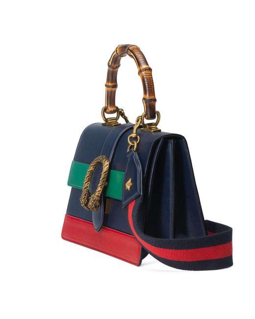 959de77e004b Gucci Dionysus Medium Top Handle Bag in Blue - Save 30% - Lyst