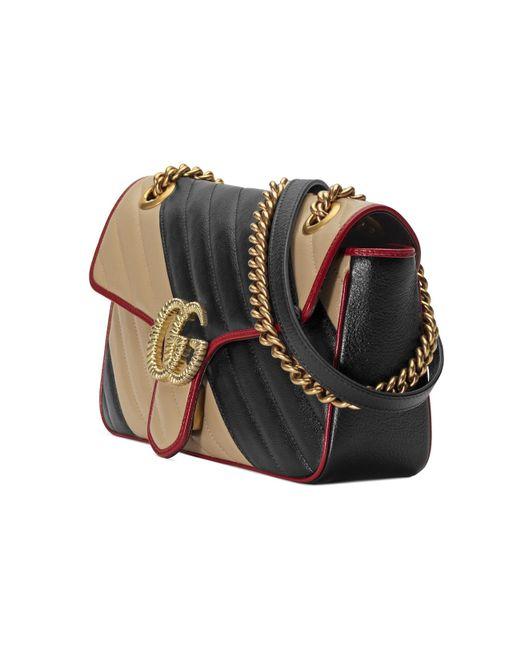 509ddf46a4a ... Gucci - Black GG Marmont Small Shoulder Bag - Lyst ...