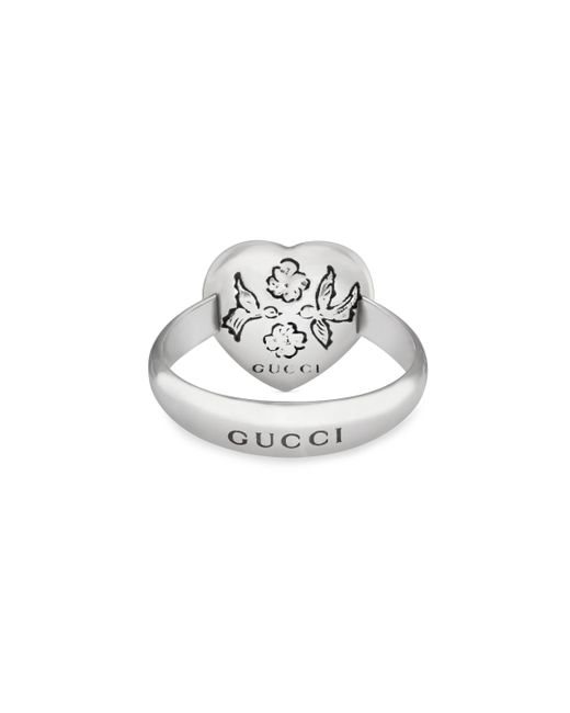 10877538d Gucci Blind For Love Ring In Silver in Metallic - Save 12% - Lyst