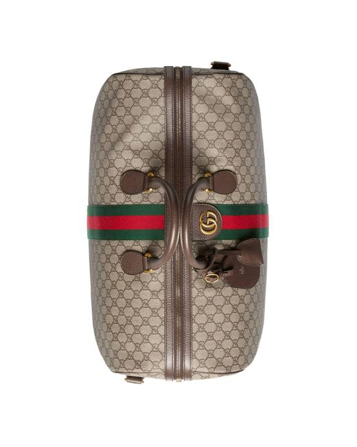 2d4362a44ef1da ... Gucci - Brown Ophidia GG Large Carry-on Duffle for Men - Lyst ...