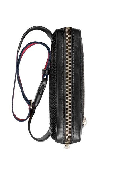 eb4f466d12c ... Gucci - Black Soft GG Supreme Belt Bag for Men - Lyst ...