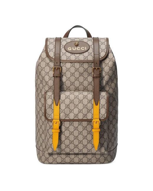 Lyst - Gucci Soft Gg Supreme Backpack in Natural for Men e5785a3d21