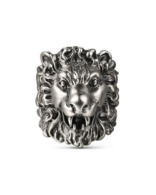 Gucci | Multicolor Ring With Lion Head | Lyst