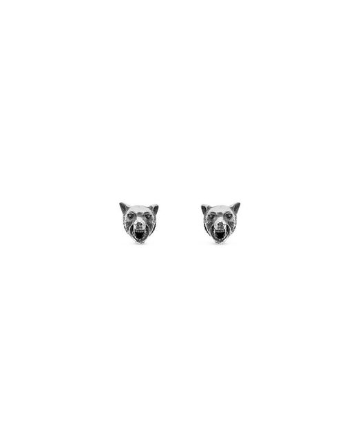Gucci - Metallic Anger Forest Wolf Head Earrings In Silver - Lyst