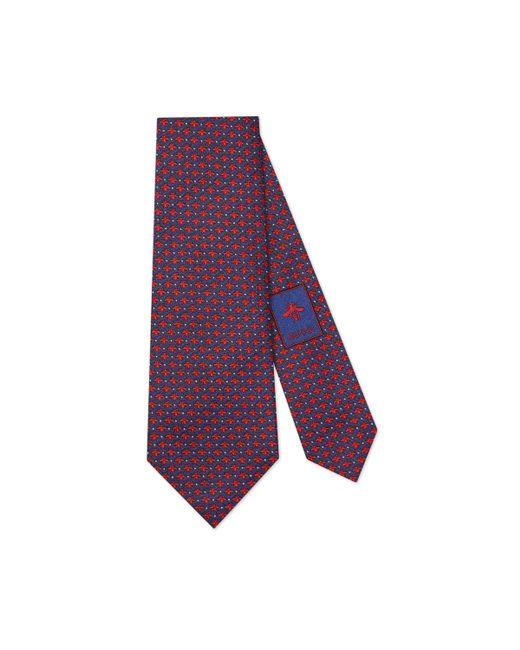 Gucci - Blue Corbata de Seda con Estampado de Lunares y Abejas for Men - Lyst