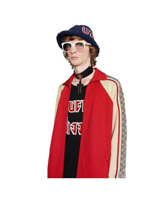 d74aa0612e3 ... Gucci - White Oversize Technical Jersey Jacket for Men - Lyst
