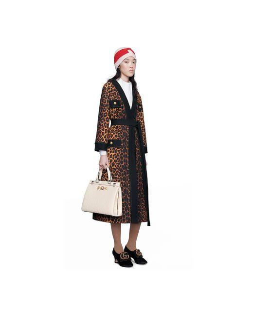 954a427dd ... Gucci - Multicolor Zumi Ostrich Medium Top Handle Bag - Lyst ...