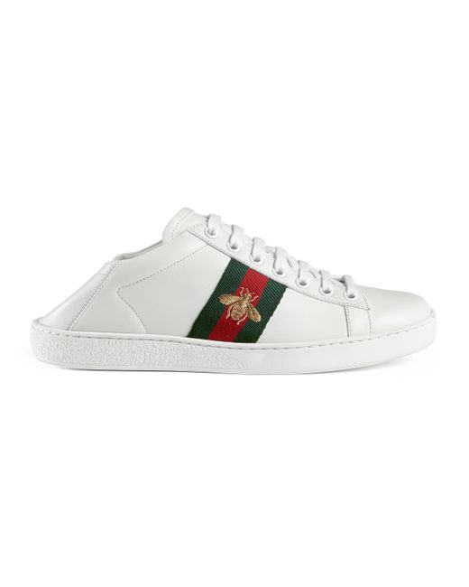 232090d61c1 Gucci - White Ace Leather Low Top Sneaker - Lyst ...