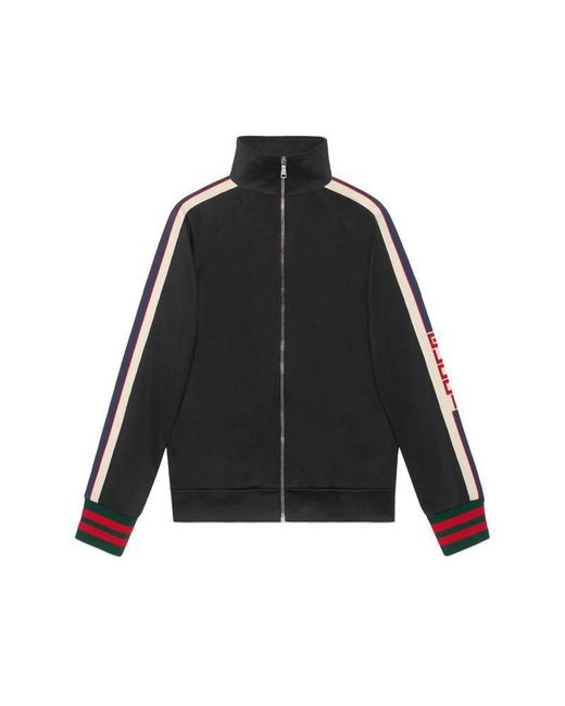 Gucci | Black Technical Jersey Jacket for Men | Lyst