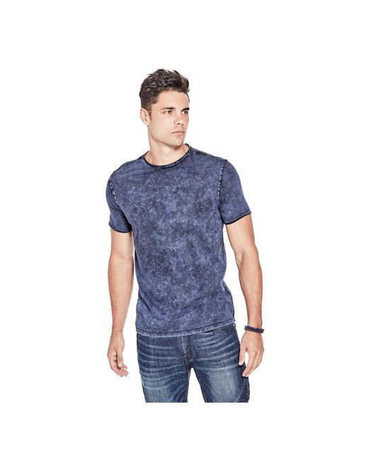 Guess | Blue Gunnarson Washed Tee for Men | Lyst