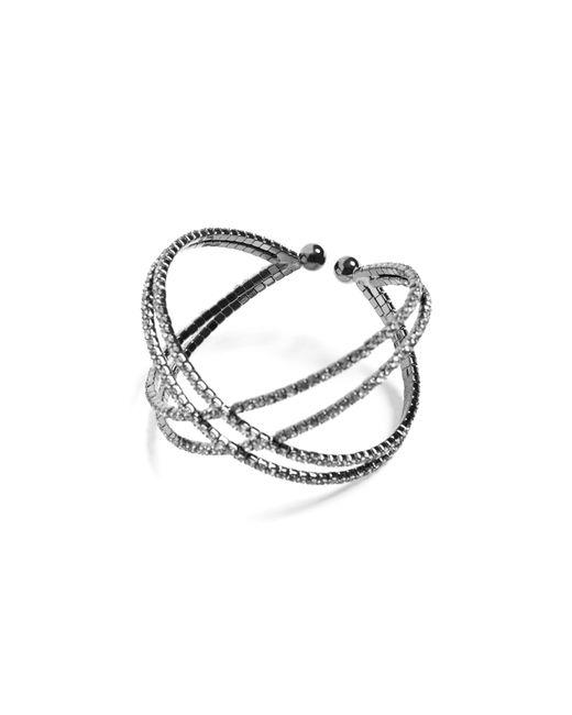 Guess | Metallic Flexi Crisscross Bracelet | Lyst