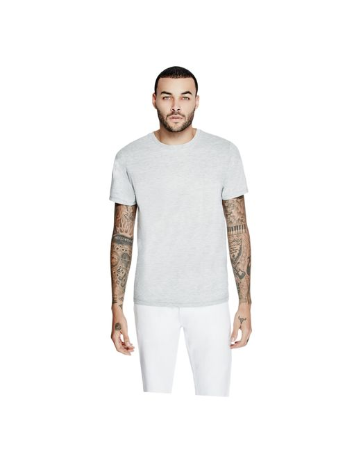 Guess - Gray Mason Shine Floral-print Tee for Men - Lyst