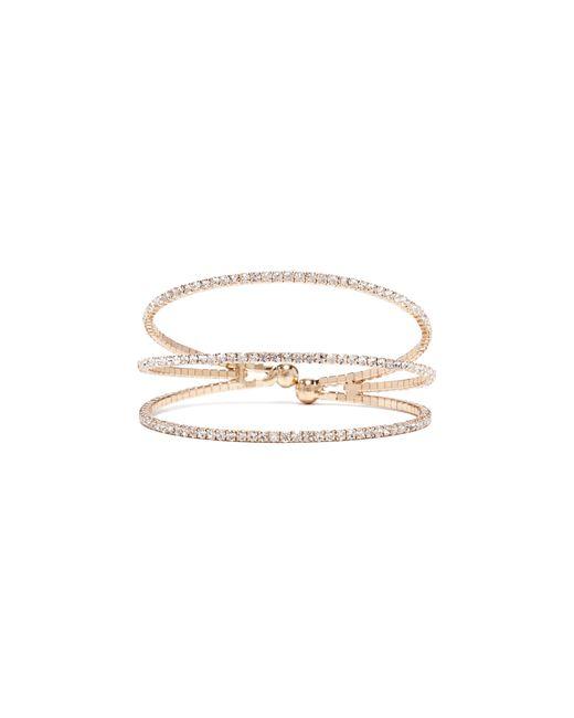 Guess - Metallic Rhinestone Spiral Bracelet - Lyst