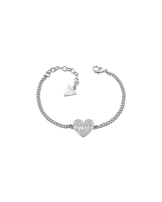 Guess | Metallic My Darling Rhodium-plated Bracelet | Lyst
