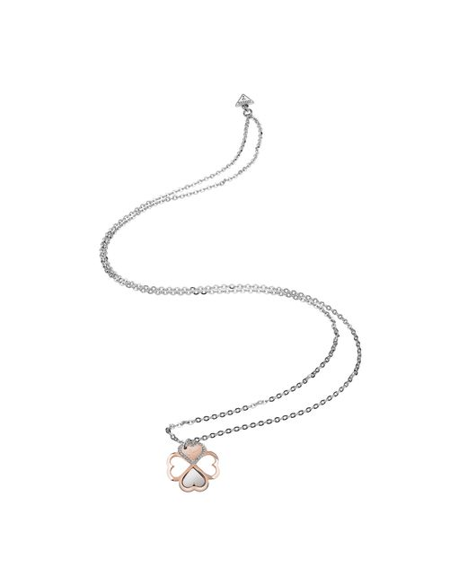 Guess | Metallic One Of A Kind Four-leaf Clover Necklace | Lyst
