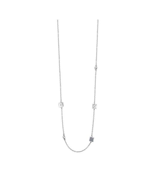 Guess | Metallic Rolling Dice Rhodium-plated Necklace | Lyst