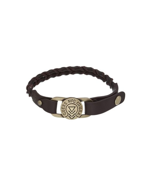 Guess | White Braid Leather Bracelet for Men | Lyst