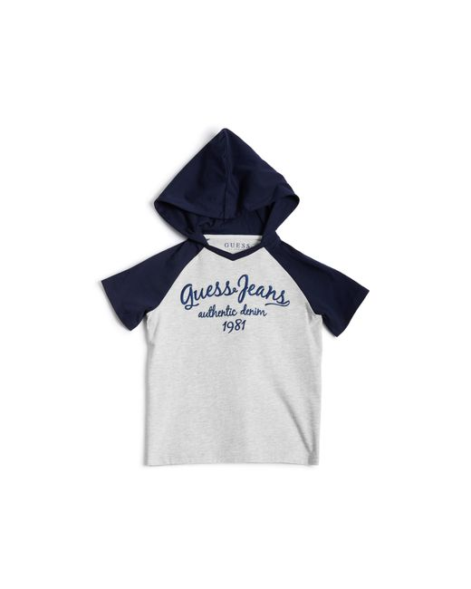 Guess - Blue Short-sleeve Logo Hooded Tee (7-18) - Lyst