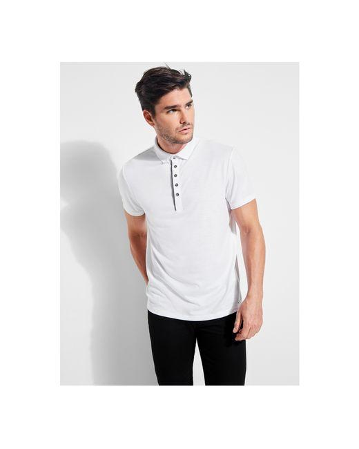 Guess - White Mason Short-sleeve Shine Polo for Men - Lyst