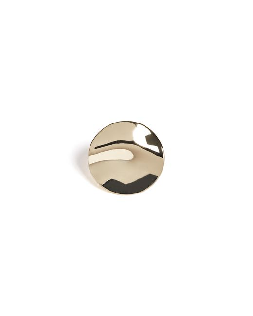 Guess - Metallic Warped Coin Cocktail Ring - Lyst