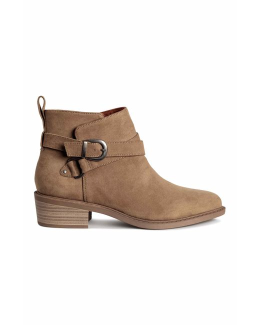 h m ankle boots in lyst
