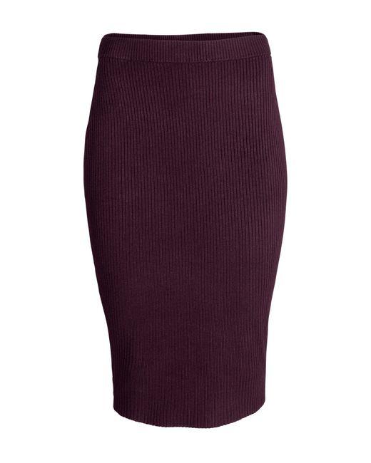 h m pencil skirt in purple plum save 58 lyst