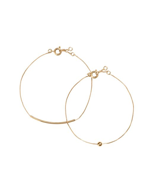 H&M | Metallic 2-pack Gold-plated Bracelets | Lyst
