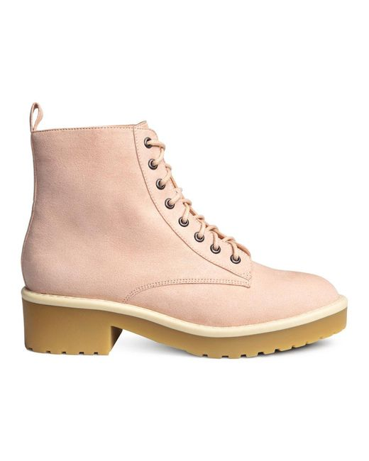 H&M | Pink Ankle Boots | Lyst