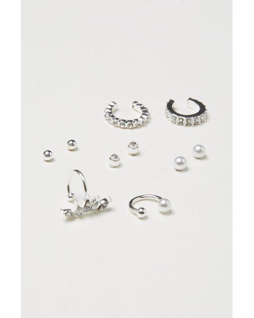 H&M - Metallic 10-pack Studs And Ear Cuffs - Lyst