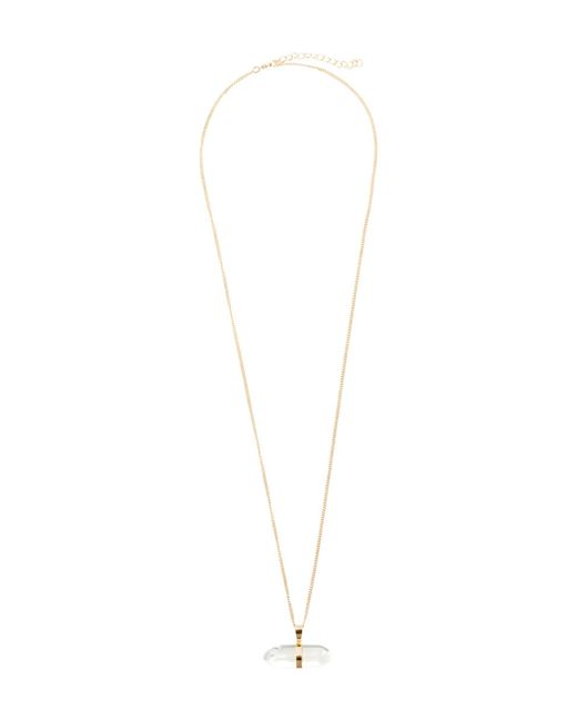 H&M | Metallic Necklace With A Glass Bead | Lyst