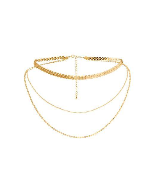 H&M - Metallic Three-strand Necklace - Lyst