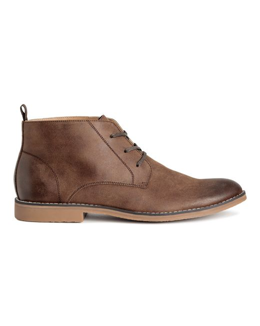 h m chukka boots in brown for lyst