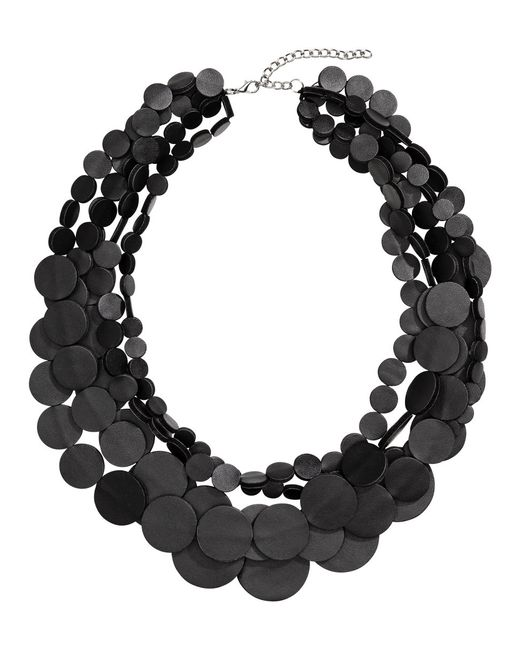 H&M | Black Multistrand Necklace | Lyst