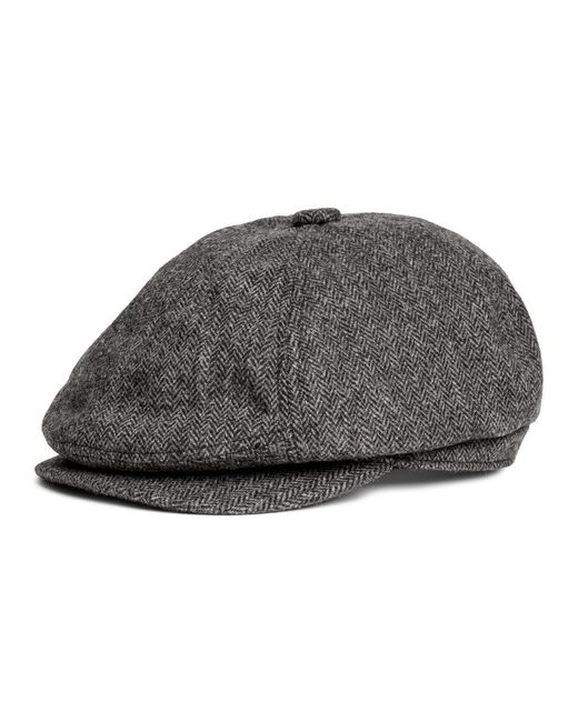 H&m Flat Cap in Black for Men