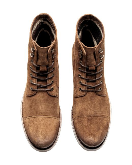 h m suede chukka boots in brown for lyst