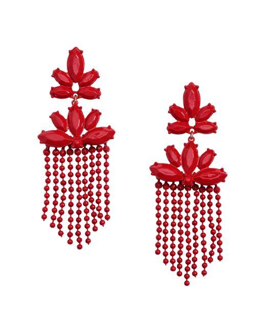 H&M | Red Long Earrings | Lyst