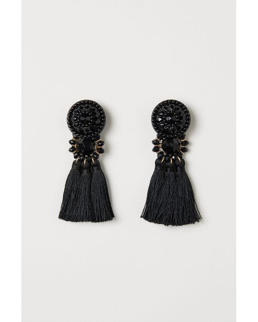 H&M - Black Earrings - Lyst